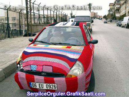 Serpilce.ile Serpilce otomobil örgüleri F1 formula 1 7 oto kaporta süsleri