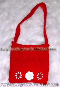 Serpilce.ile Serpilce örgüler örgü modelleri örnekleri çiçekli desenli yün çanta