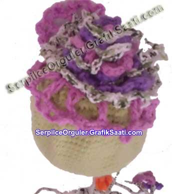 Serpilce.ile Serpilce örgüler yünden çiçek